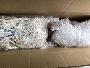 シュレッダー 裁断した紙 梱包資材 利用